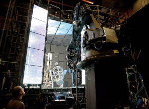 """Die """"Light-Box"""" bei den Dreharbeiten von Gravity,http://gravitymovie.wikia.com/wiki/Light_Box?file=GVD-01238s.jpg"""